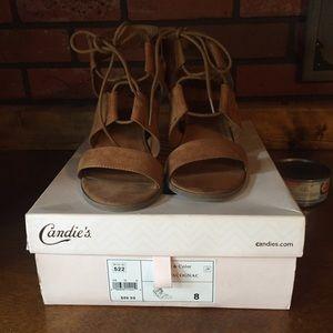 Candies,wedge Sandal Brown Very cute & comfy
